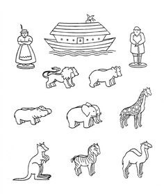 Noahs Ark Animals Coloring Pages