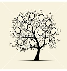 Family tree design insert your photos into frames vector 944326 - by Kudryashka on VectorStock®