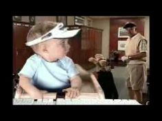 The E*TRADE Baby tells his golf buddy, Frank the Shankopotomis, to take charge of his finances with E*TRADE. Pre- and post-Big Game Feb. Golf Videos, Tv Videos, Golf Baby, E Trade, Flexibility Training, Funny Ads, Great Ads, Best Commercials, Golf Humor