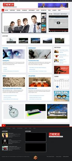ZT News 4, IV Joomla Newspaper Magazine Template