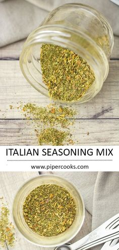 Gather up these 7 spices and make your own Italian Seasoning. Quick spice mix to make, and easy to add more of whatever spices you like the best. Italian Seasoning Mixes, Easy Italian Seasoning Recipe, Real Food Recipes, Healthy Recipes, Savoury Recipes, Delicious Recipes, Tandoori Masala, Recipes