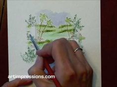 How to video: Art Impressions: wonderful watercolor ... project 8 part 2
