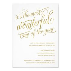 WONDERFUL | HOLIDAY PARTY INVITATIONS   Click on photo to purchase. Check out all current coupon offers and save! http://www.zazzle.com/coupons?rf=238785193994622463&tc=pin