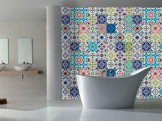 Stickere faianţă decorativă patchwork Blue - Decorează uşor folosind stickerele faianţă decorativă patchwork Blue.Creează uşor un decor nou, modern în bucătărie sau baie