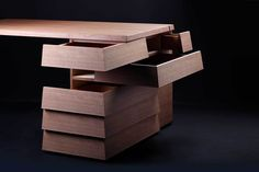 Info The desk with new drawer system, opening in 2 different directions. Designed by NOSIGNER This innovative desk, developed with traditional wooden craftsmanship from Tokushima in Japan, possesses the same special feature as our CARTESIA drawer: a 2-directional structure, allowing you to access multiple storage at the same time as well as eliminating blind spots in the back of each drawer. This sophisticated business desk was designed to assist you. In addition to its clever Cartesia…