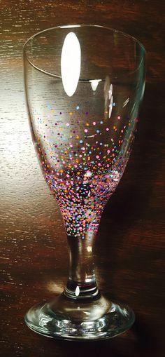 Sharpie pen wine glass