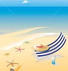 beach scene clip art beach chair vector landscape free vector rh pinterest com Ocean Beach Clip Art free clipart beach scene