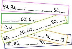 Number Pattern Cards w/ Printable