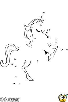 Unir los puntos de unicornio #pasatiempo #unirlospuntos #unirocnio