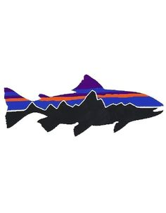 Patagonia Fitzroy Trout Sticker and other Patagonia Fly Fishing Stickers at Jans.com