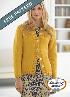 My First Raglan Cardigan in Lion Brand Vanna's Choice, a beautiful mustard yellow cardi pattern available at LoveKnitting. Find this pattern and more knitting inspiration on the LoveKnitting website. Knitting Patterns Free, Knit Patterns, Free Knitting, Baby Knitting, Free Pattern, Knitting Yarn, Pattern Ideas, Knit Cardigan Pattern, Crochet Cardigan