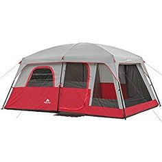 8 - 10 Person Camping Hiking Fishing Outdoor Family Cabin Style Tent Only 10 In Stock Order Today! Product Description: The Ozark Trail Family Cabin Tent is a spacious cabin style tent. It features windows on all sides with three extra large win Hiking Tent, Tent Camping, Camping Gear, Outdoor Camping, Camping Outdoors, Camping Places, Glamping, Family Tent, Family Camping