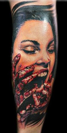 53123affa Scary Horror Vampire Girl Portrait Tattoo Hot Tattoos, Girl Tattoos,  Tattos, Vampire Girls