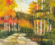 Backroads of Monitor Pass ~ Peter Chope ~ Watercolor