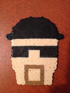 Breaking Bad Mr. White/Heisenberg Perler Bead on Etsy, $3.00