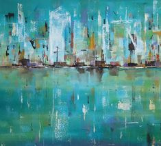 City Scape Painting - Reflections of City