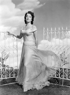 "Elizabeth Taylor in a publicity still for ""Giant', 1956."