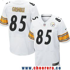 Men's Pittsburgh Steelers #85 Xavier Grimble White Road Stitched NFL Nike Elite Jersey