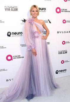 Pin for Later: Les Stars S'éclatent à la Soirée Organisée Par Elton John Pour les Oscars Heidi Klum