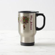 School Preschool Teacher Little Kid Hands Bouquet Travel Mug - decor gifts diy home & living cyo giftidea