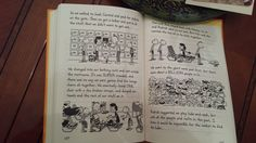 Diary of a Wimpy Kid: The Long Haul, double-page spread