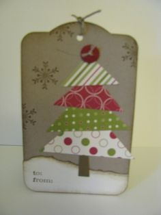 Stampin up Christmas gift tags | Stampin' Up! Two Tags Linda Pittman