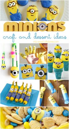 25+ minion crafts and dessert ideas. SO MANY fun kid craft activities and lots of fun minion birthday ideas!