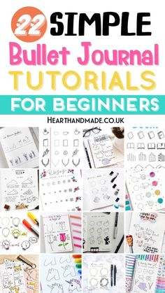If you're in need of simple bullet journal doodle tutorials, then this list is for YOU! There are actually more than 22, but 22 sources and a video that shows you how to doodle absolutely anything in your bullet journal. It's very easy! Learn how to doodle like a pro using some simple supplies. Drawing in your bullet journal has never been easier and there are even more bullet journal posts on the blog! #dooding #doodle #bulletjournal #bujo Bullet Journal Hacks, Bullet Journal Notebook, Bullet Journal Layout, Bullet Journal Ideas Pages, Bullet Journal Inspiration, Bullet Journals, To Do Planner, Planner Ideas, Happy Planner