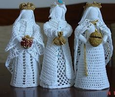 Best 9 Crochet white angel figurine religious gift Christmas ornament tree decor godmothers present Christening guardian lace angel – SkillOfKing. Knit Christmas Ornaments, Crochet Ornaments, Christmas Crochet Patterns, Holiday Crochet, Crochet Snowflakes, Christmas Knitting, Christmas Angels, Christmas Christmas, Thread Crochet