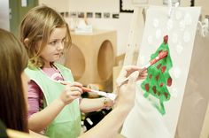 Learning how to paint at the YMCA of Simcoe/Muskoka child care centres Child Care Services, Family Support, Parent Resources, Learn To Paint, Child Development, Childcare, Parenting, Learning, Child Care