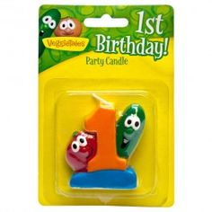 VeggieTales Happy Birthday Candle Number 1 - VeggieTales® Official Store