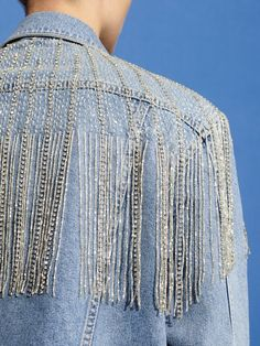 Women S Fashion Shoulder Bags Fashion Details, Love Fashion, Fashion Design, Denim Party, Denim Fashion, Fashion Outfits, Denim And Diamonds, Diy Kleidung, Diy Clothing