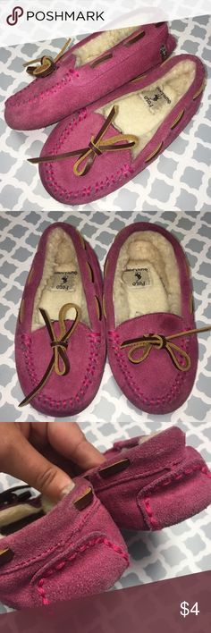Polo Ralph Lauren Moccasin House Shoes Polo Ralph Lauren Moccasin House Shoes  Polo Ralph Lauren Moccasin House Shoes Pink Girls Size 9. Good condition, but need cleaning. Inventory: A Polo by Ralph Lauren Shoes Slippers