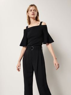 KNIT TOP WITH A FLARED DETAIL - Women - Massimo Dutti
