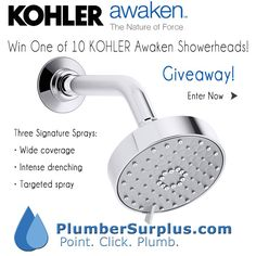 Win one of 10 KOHLER Awaken Showerheads! Click to Enter!