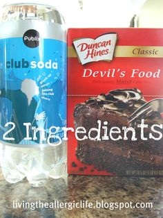 Living the Allergic Life: 2 Ingredient Cupcakes {Dairy-Free, Egg-Free}