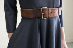 nice belt w/ nice dress.. the color is my favourite! :D
