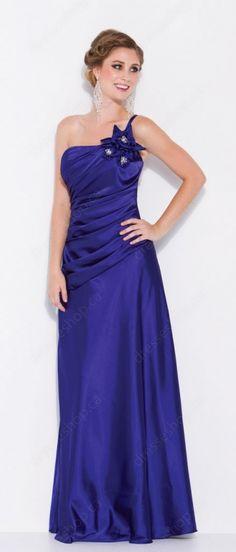 #Purple Flowers Evening Dress