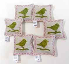 Six Lavender Sachets in Natural Linen Fabric with by WSDreams, $39.95