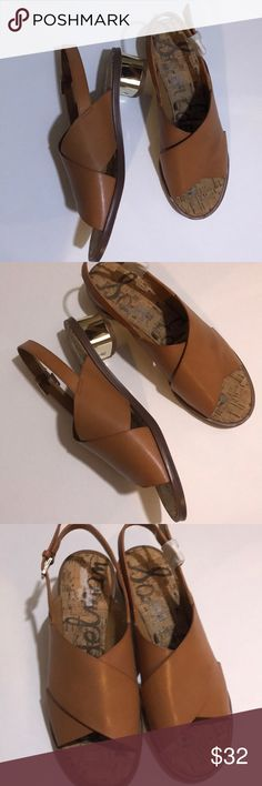 Sam Edelman Sandal Sam Edelman Sanandaj with side fastening buckle on the side with super cute gold heels Sam Edelman Shoes Sandals