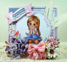 Gramma's House of Cards: Little Darlings Rubber Stamps - Angels Among Us