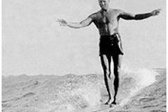 The godfather of wooden surfboards and the inspiration for all our wooden surfboard designs , Tom Blake Wooden Surfboard, Surfboards, The Godfather, Inspiration, Design, Biblical Inspiration, Skateboards, Inspirational