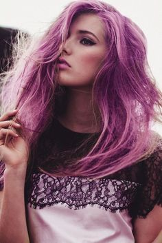 Purple Hair ~ Rainbow Hair Trend