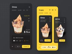 Hi there, I've been doing the ice cream business for some time. And for several months I was thinking about the idea of an online ice cream shop. I know that along the way you need to solve many i. Ui Design Mobile, App Ui Design, Interface Design, User Interface, Design Design, Dashboard Design, Flat Design, Adobe Photoshop, Lightroom