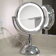 Makeup Mirrors with lights makeup mirrors with lights vanity mirror with lights: vanity mirror diy, bathroom vanity mirror, vintage vanity mirror, makeup vanity NPKXUCH Small Vanity Mirror, Lighted Vanity Mirror, Small Mirrors, House Of Mirrors, Ring Light Mirror, Makeup Mirror With Lights, Makeup Light, Diy Makeup Mirror, Diy Mirror