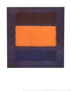 Untitled, Brown and Orange on Maroo