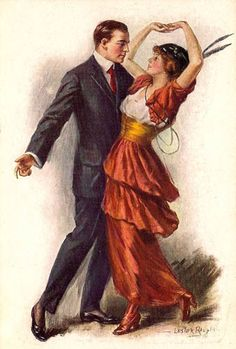 Ragtime Era Dance Fashions 1912-1915 a musical genre that enjoyed its peak popularity between 1895 and 1918. This new trend led to some changes in women's clothes so that they could really dance.