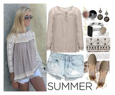 Summer Style.. by bamaannie on Polyvore featuring polyvore, fashion, style, Zizzi, H&M, Steve Madden, Alice + Olivia, Marni, Chanel, Summer, contestentry and peasanttop
