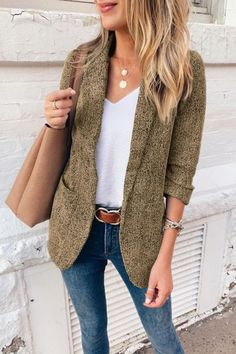 Summer Work Outfits, Casual Work Outfits, Business Casual Outfits, Work Casual, Fall Outfits, Casual Blazer, Fall Business Casual, Business Formal, Casual Attire