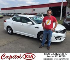 https://flic.kr/p/FT1H7y | Happy Anniversary to Jody on your #Kia #Optima from Robert Bills at Capitol Kia! | deliverymaxx.com/DealerReviews.aspx?DealerCode=RXQC